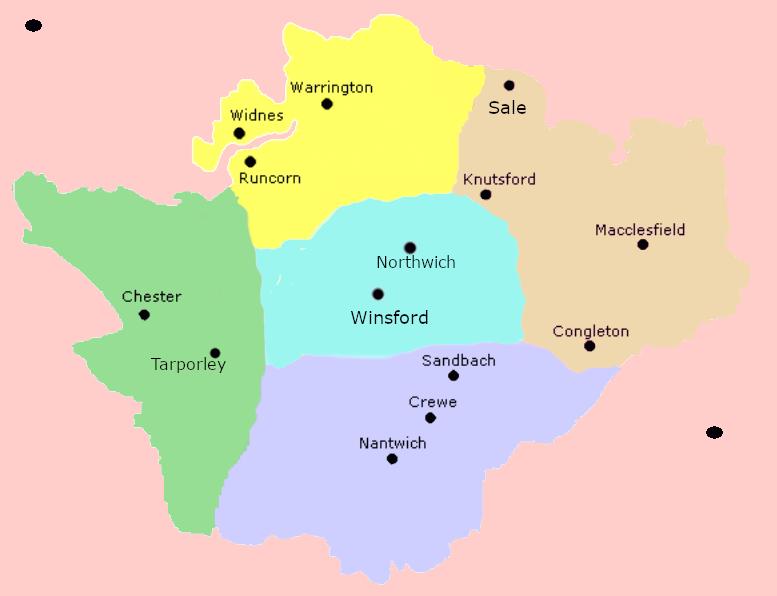 Cheshire Map